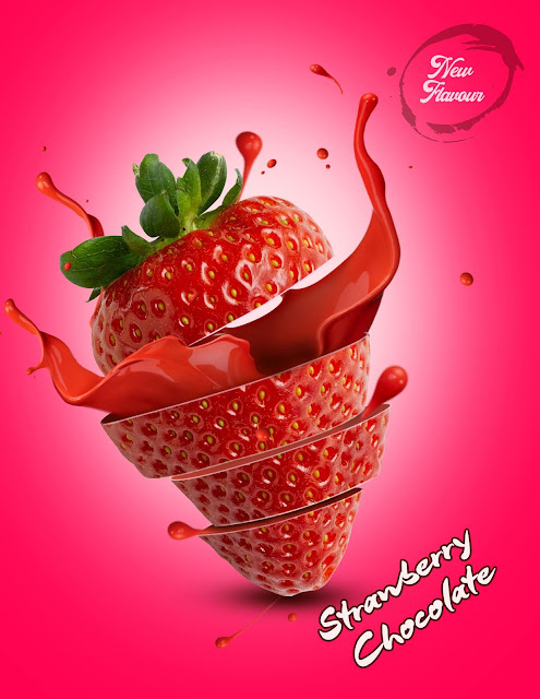 Poster Design Strawberry Flavor | 27 May 2018
