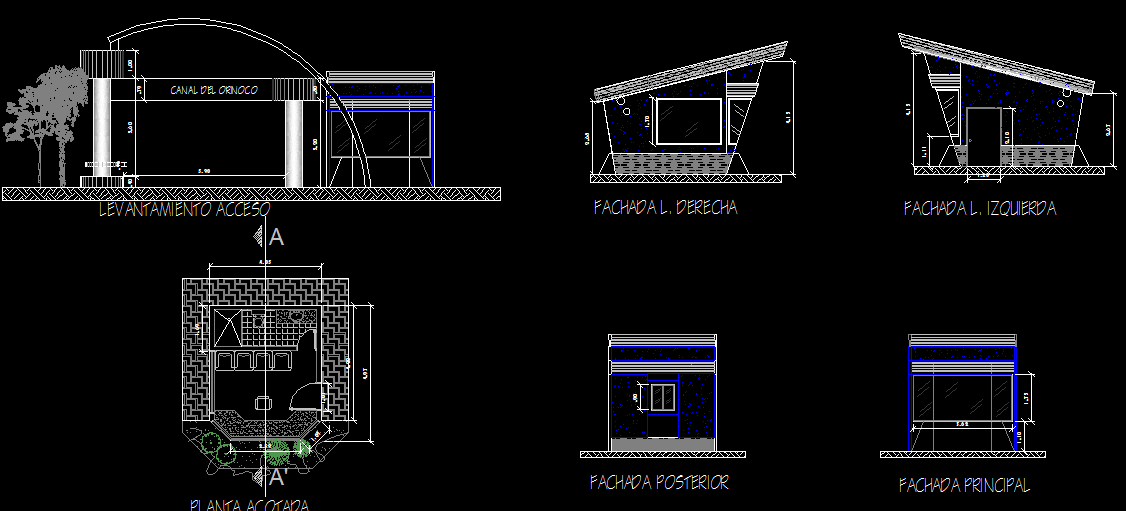 Guard booth design CAD drawings