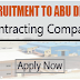 Urgent Staff Recruitment to UAE - Contracting Company