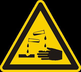 simbolo corrosivo peligro