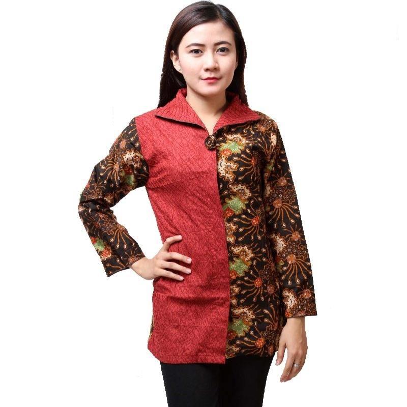 Desainer Baju Batik Wanita: 10 Baju Batik Wanita Kantor Lengan Panjang, Elegan
