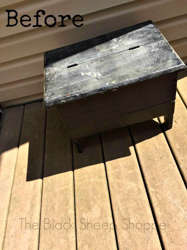 Handmade vintage shoe shine box.