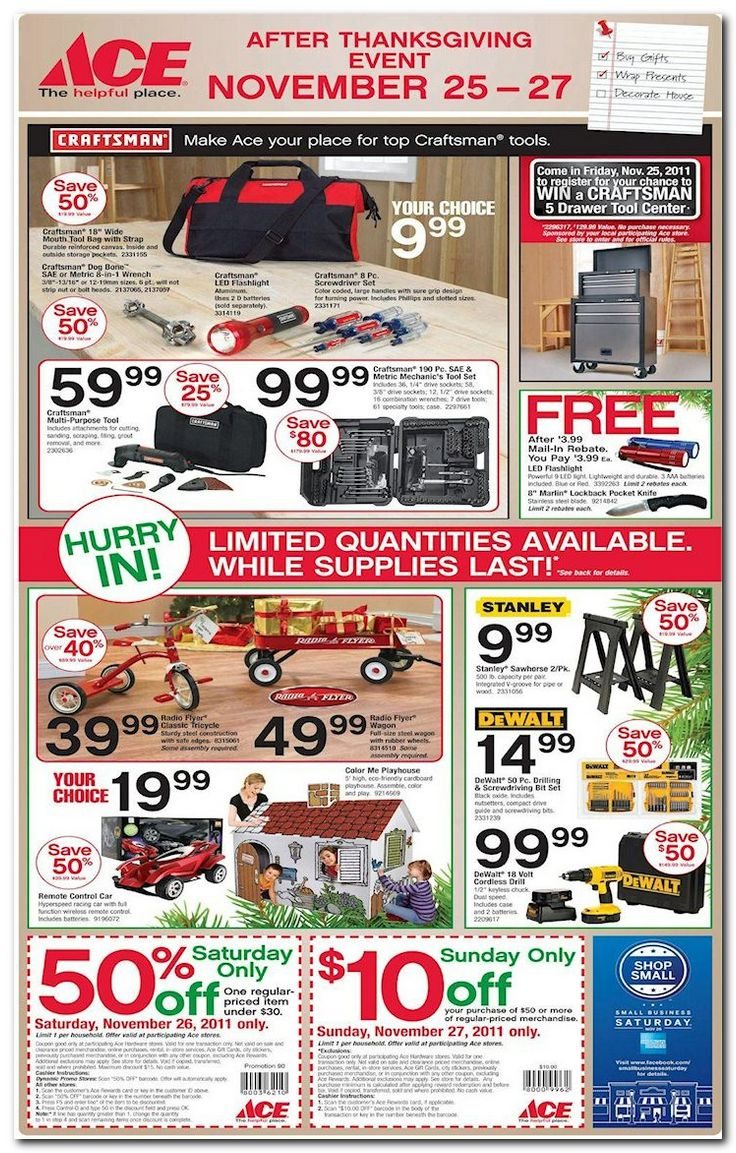 Sale Flyer Hardware Ace
