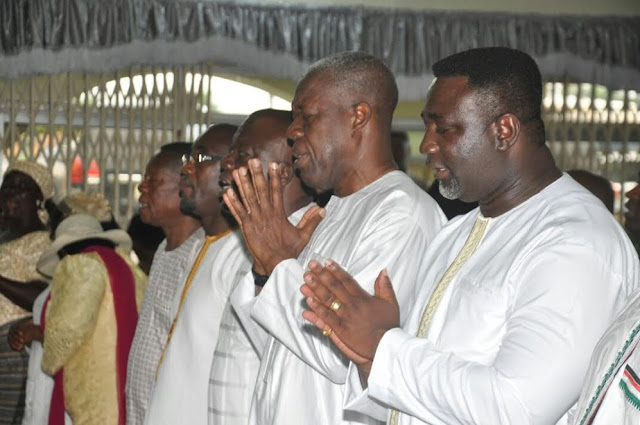 Amissah-Arthur visits Prophet One for prayers