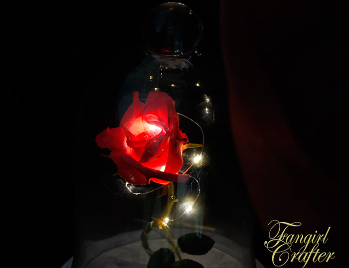 Beauty and the Beast Enchanted Rose DIY