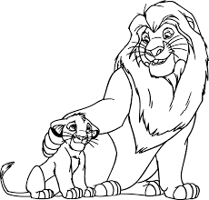 Simba And Lion Kings Coloring Pages For Print