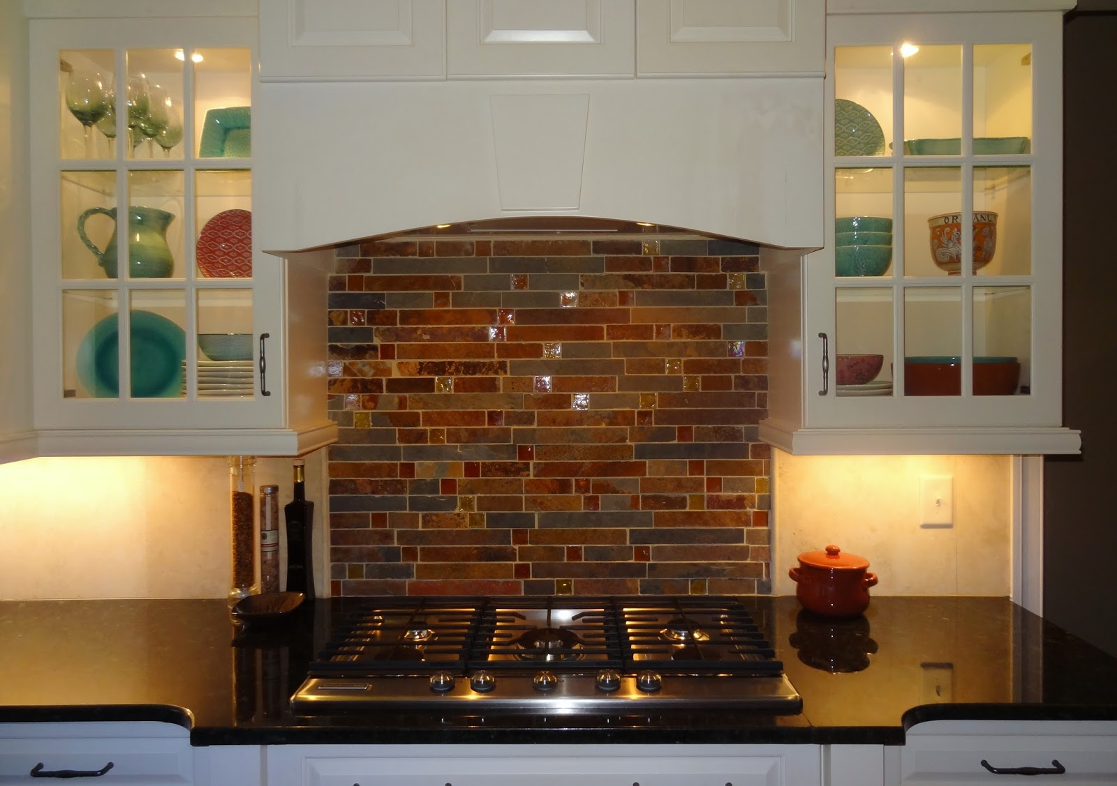 In This Greensboro, NC Kitchen, We Added Glass Doors And Lights