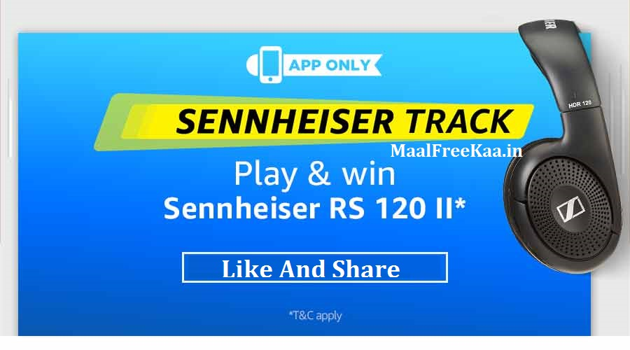 Amazon Apps Sennheiser Track Play And Win Contest - Freebie Giveaway
