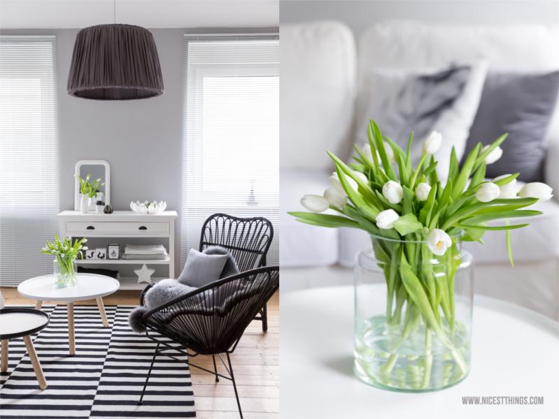 Weisse Tulpen im Wohnzimmer Tine K Home