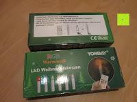 Verpackung: Yorbay® LED Weihnachtskerzen RGB/Warmweiß mit Fernbedienung mit Timerfunktion 10-100stk (20)