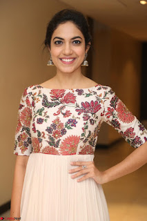 Ritu Varma smiling face Cream Anarkali dress at launch of OPPO New Selfie Camera F3 ~  Exclusive 083.JPG