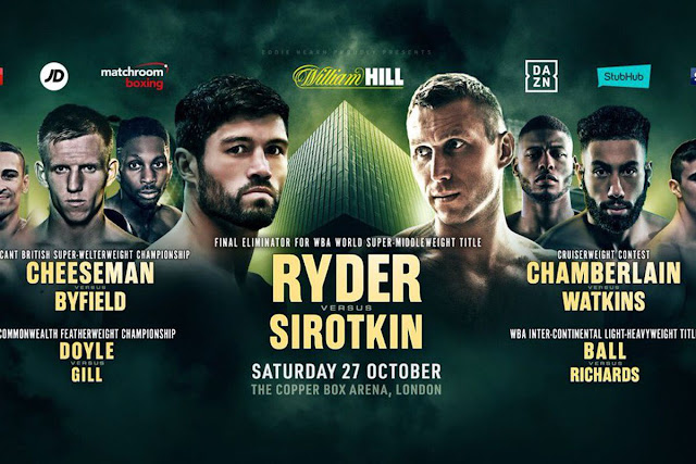 John Ryder vs. Andrey Sirotkin Live Results : Ted Cheeseman, Chamberlain In Action