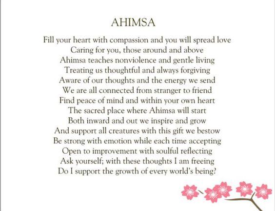 Ahimsa - Harmlessness