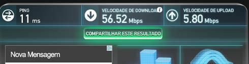 medir a velocidade da internet