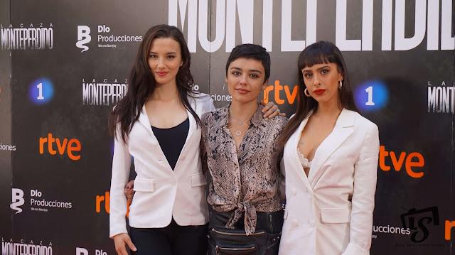 La Caza Monteperdio, Photocall, RTVE, La 1, Aria Bedmar, Carla Díaz y Laura Moray