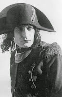 Monochrome image of actor Albert Dieudonné portraying Napoleon I of France in the 1927 film Napoléon.