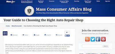 Mass Consumer repair shop advice