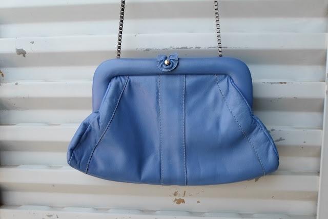Bolsa em couro legítimo vintage