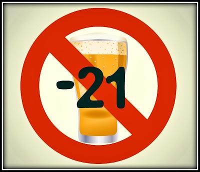 Prohibido Beber Alcohol a Menores de 21 Años