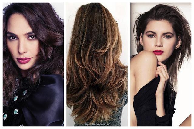 cortes cabello en capas 2017