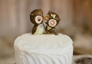 cute owl wedding cake toppers