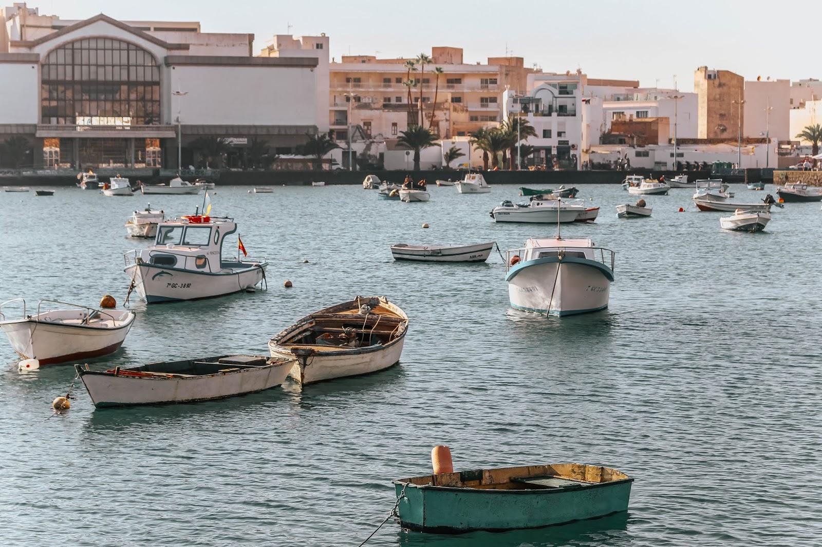 Lanzarote Arrecife Harbour Boats