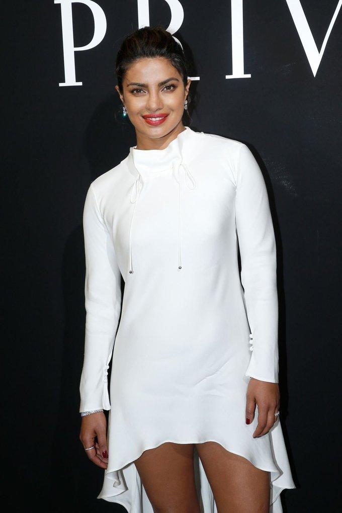 Priyanka Chopra Spicy Stills for Giorgio Armani Prive Haute Couture FW17 Show