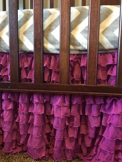 Purple Crib Skirt for Baby Nursery