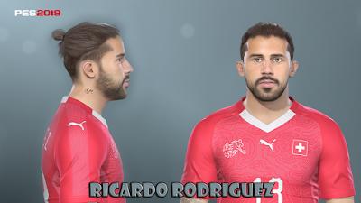 PES 2019 Faces Ricardo Rodríguez By Prince Hamiz
