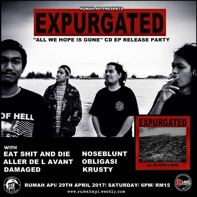 Expurgated CD EP Released Party underground gigs 29 april 2017 kappasm
