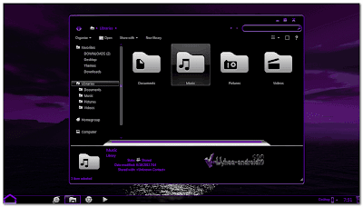 THEME WINDOWS 7 PURPLE ICS