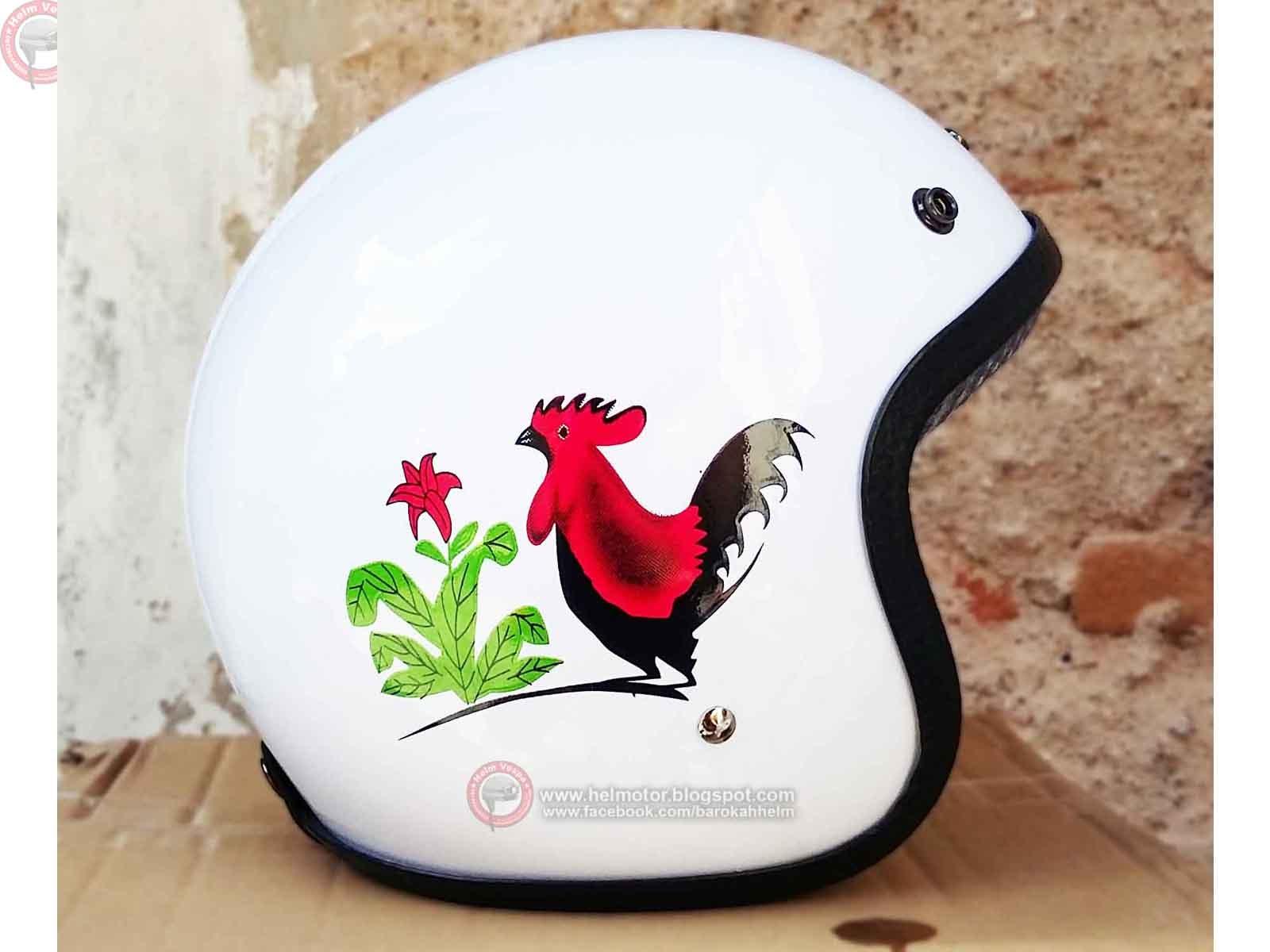 Helm Retro Bogo Ayam  Helm Vespa