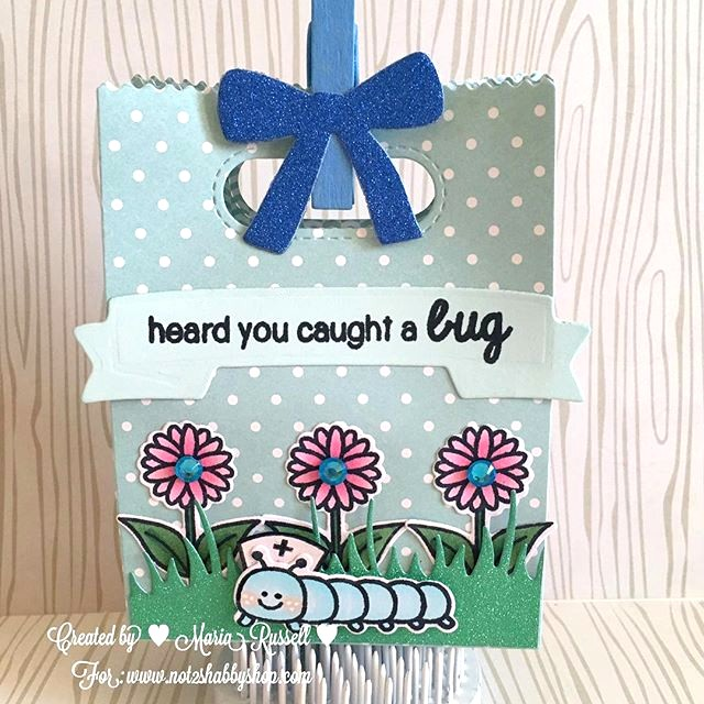 "Sunny Studio Stamps: A Backyard Bugs ""Heard You Caught A Bug"" Get Well Gift Bag by ML Russell."