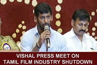 Producer Council President Vishal's Press meet on the shutdown of Film Industry