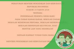 Juknis PPDB 2018 Sesuai Permendikbud Nomor 14 Tahun 2018 Tentang PPDB TK SD SMP SMA SMK