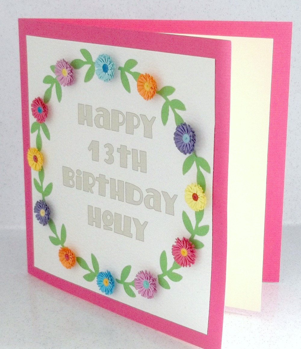 paper daisy cards happy new year