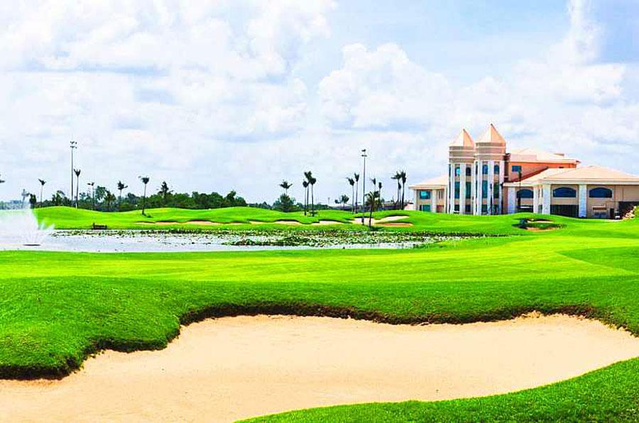 hệ thống sân golf 18 lỗ đạt tiêu chuẩn quốc tế tại dự án