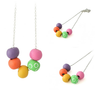 Small Colourful Bead Necklace by Lottie Of London Jewellery