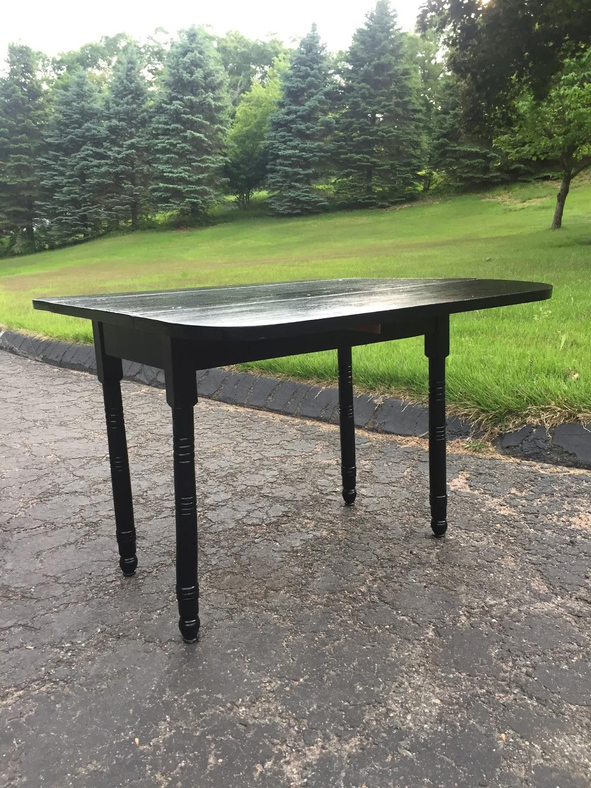 drew danielle design black drop leaf table. Black Bedroom Furniture Sets. Home Design Ideas