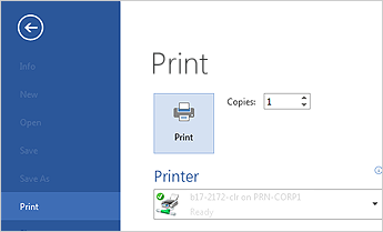 imprimir un documento en microsoft word 2013