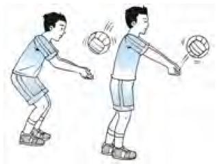 Jelaskan teknik passing bawah pada bola voli