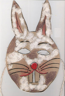 Páscoa máscara de coelho