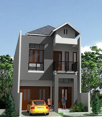 gambar rumah minimalis terbaru: desain rumah dua lantai