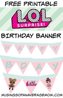 free L.O.L. surprise birthday banner