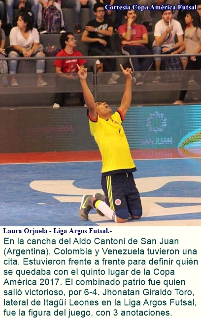 Colombia terminó quinta de la Copa América – Futsal.