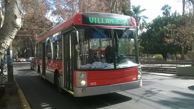 Ônibus RedBus em Mendoza na Argentina