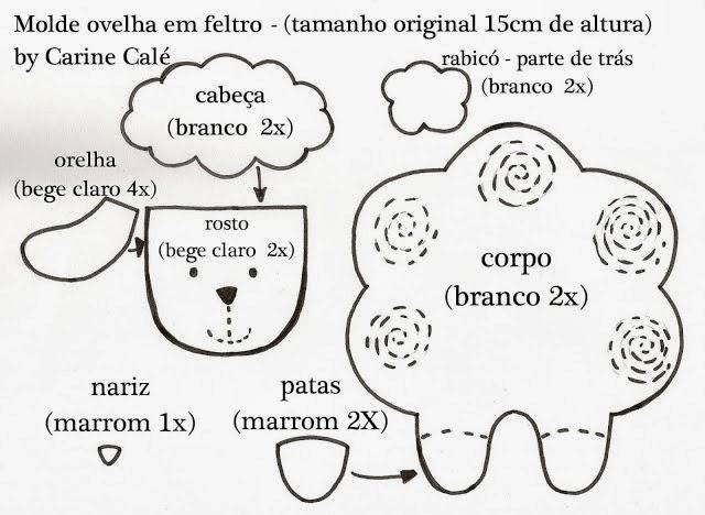 Arte Com Quiane Paps E Moldes De Artesanato 8 Moldes Ovelha