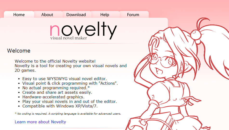 how to make a visual novel novelty