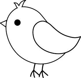 Tranh tô màu con chim cho bé ba tuổi