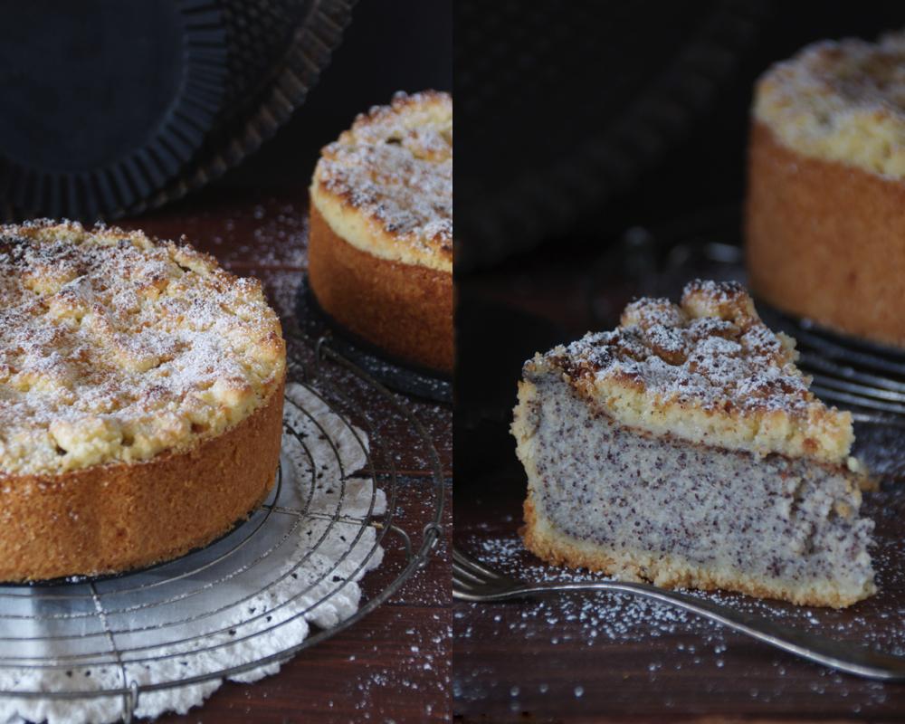 Krumelkreationen Saftiger Mohnkuchen Mit Streuseln